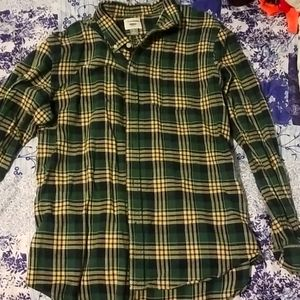 Mens plaid long sleeve button up